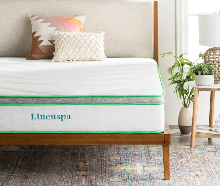 LINENSPA 10 Inch Latex Hybrid Mattress