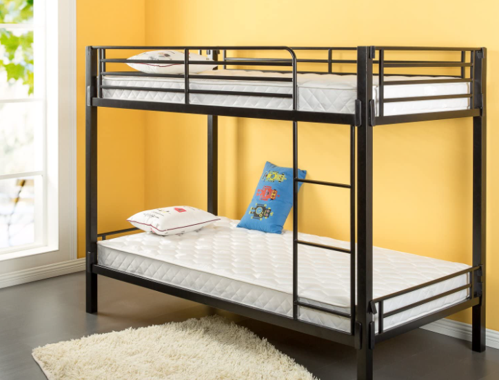 Zinus 6 Inch Foam and Spring Twin Mattress 2 Piece Set for Bunk Beds